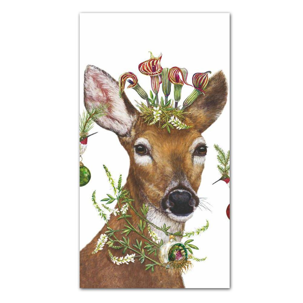 Christmas Deer Princess Paper Guest Towels by Vicki Sawyer