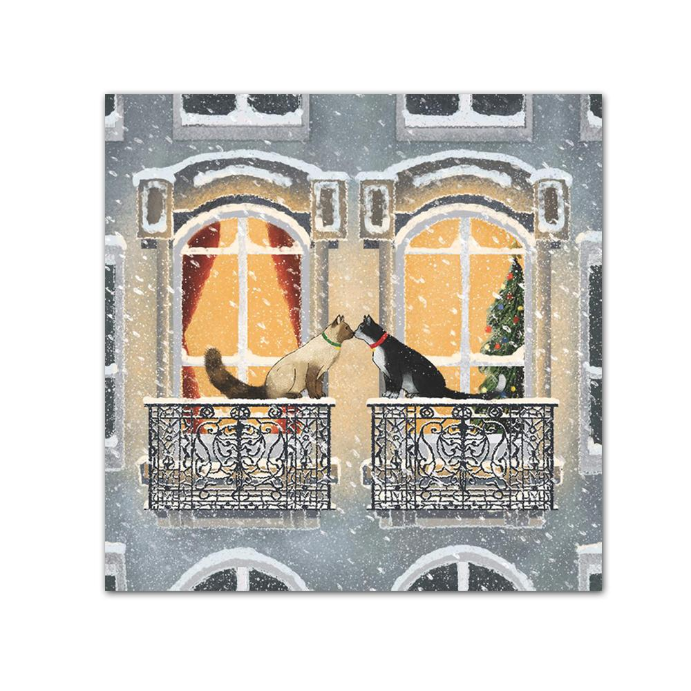 Townhouse Cats Paper Beverage Napkins