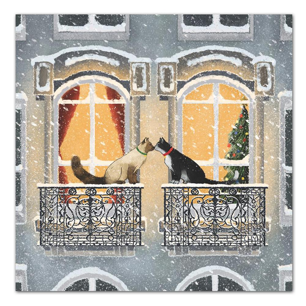 Townhouse Cats Paper Luncheon Napkins