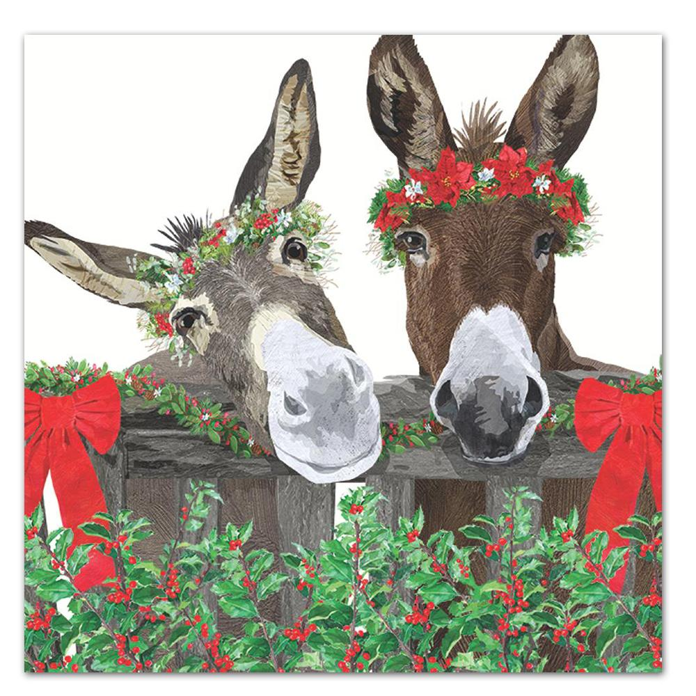 Peanut Butter & Jelly Donkey Holiday Luncheon Napkins