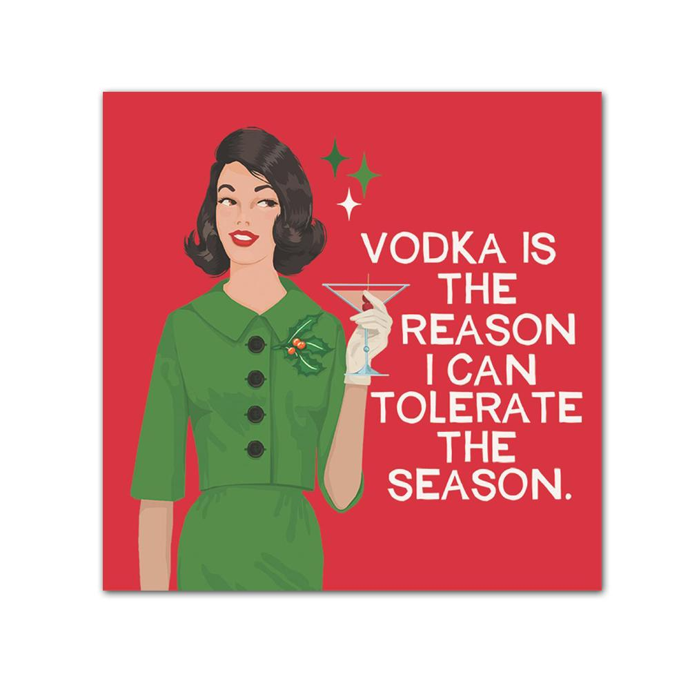 Tolerate the Season Funny Christmas Cocktail Napkins