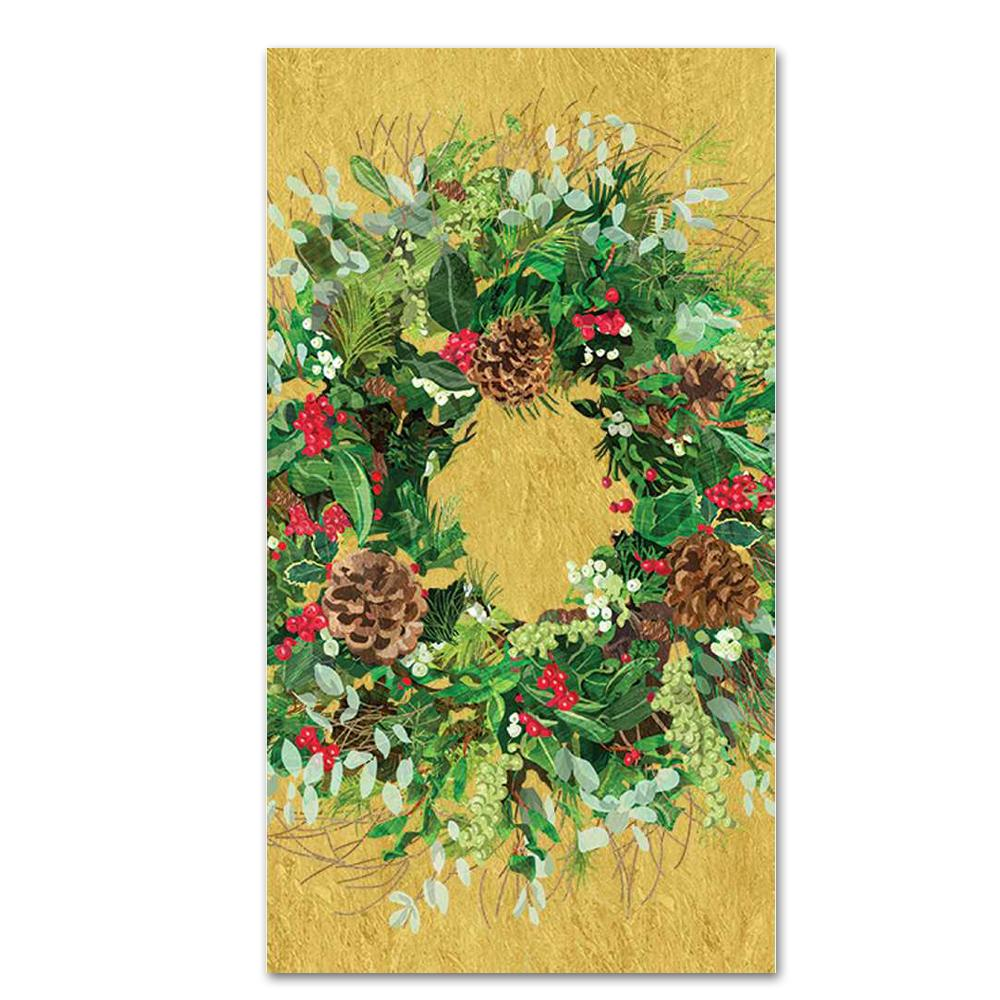 Yuletide Wreath Paper Guest Towels