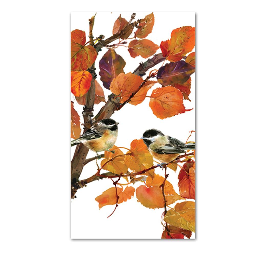 Autumn Birds Paper Guest Towels