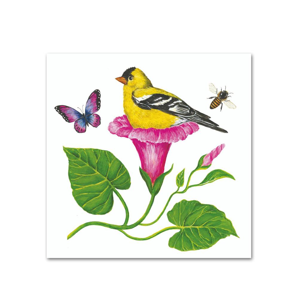 Morning Glory Nest Paper Beverage Napkins