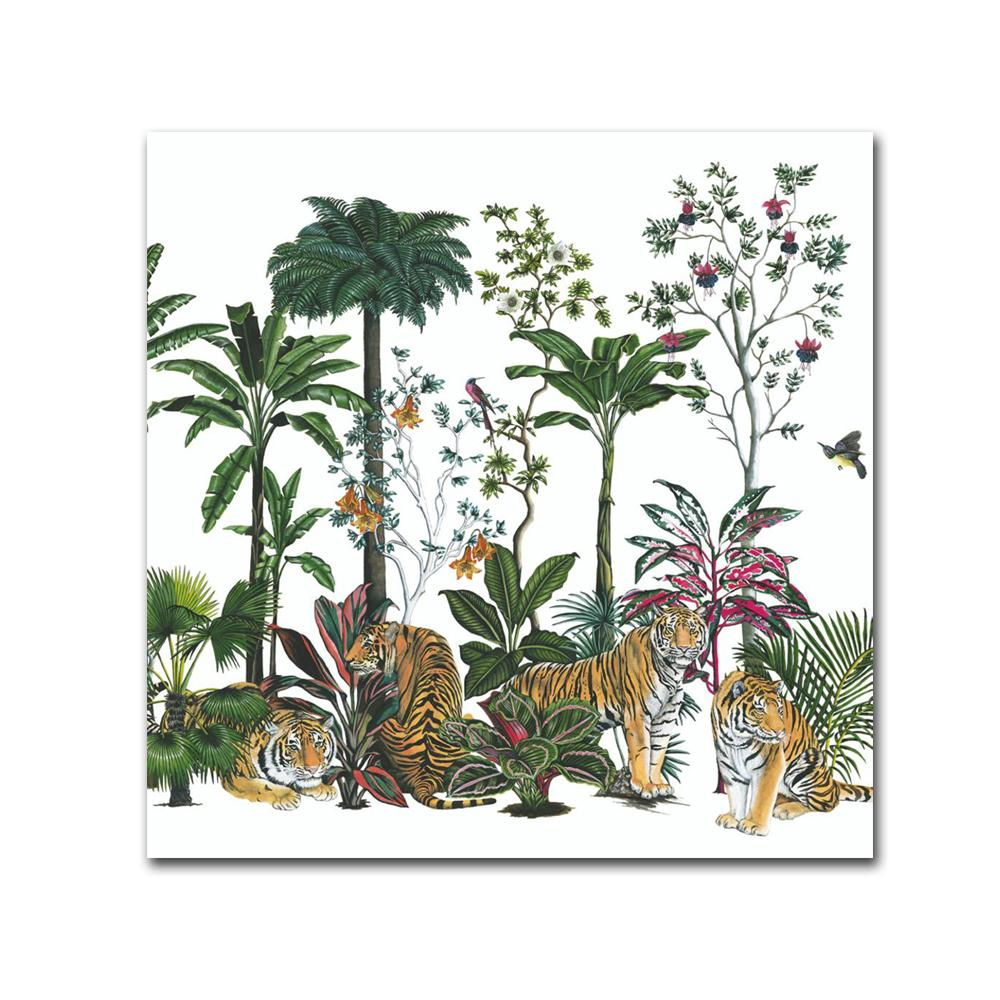 Tiger Summer Paper Beverage Napkins