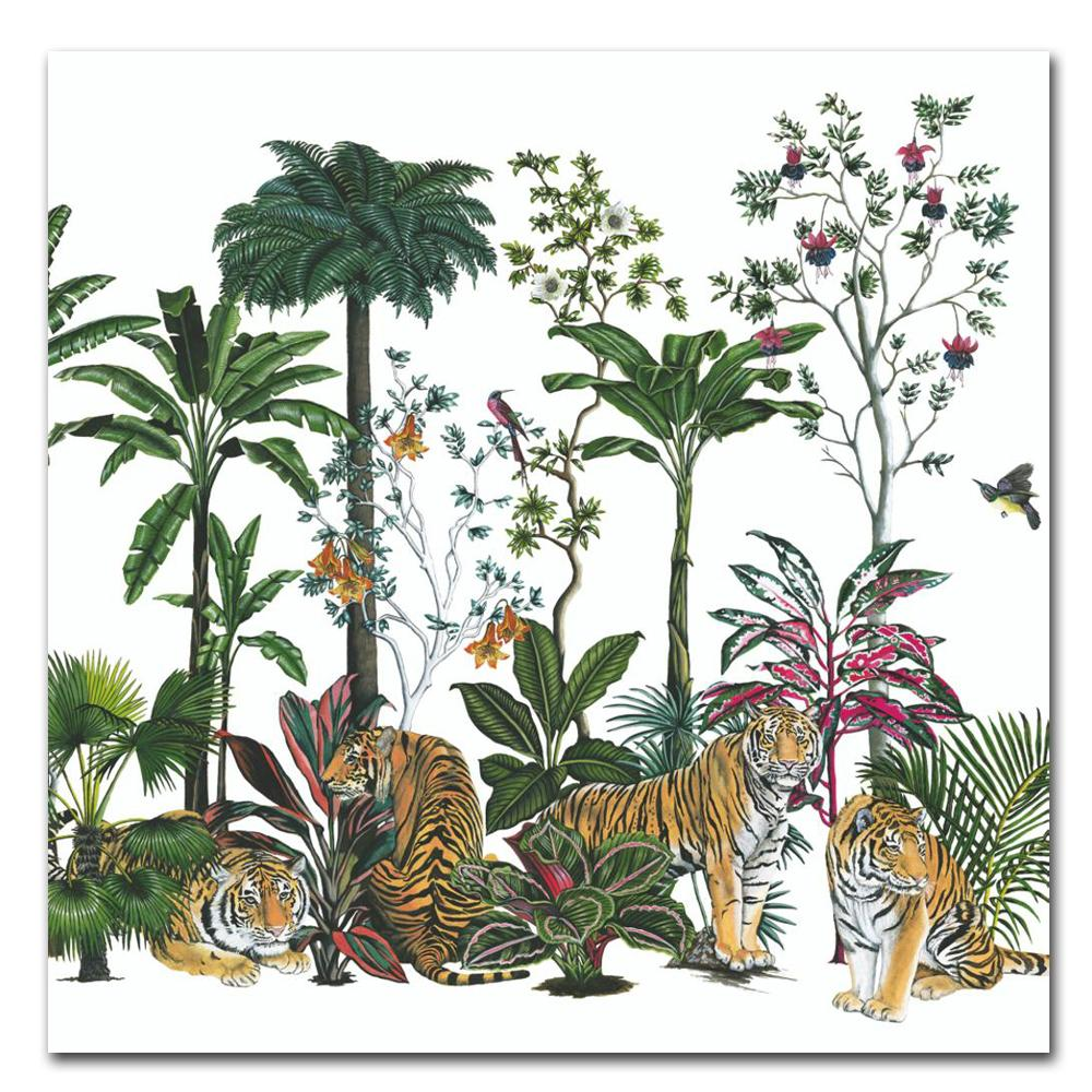 Tiger Summer Paper Luncheon Napkins