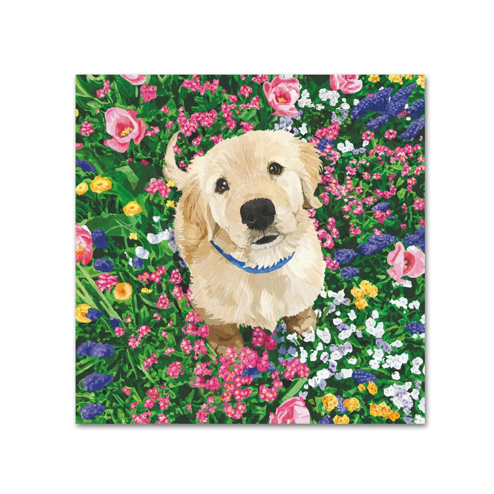 Garden Dog Paper Beverage Napkins