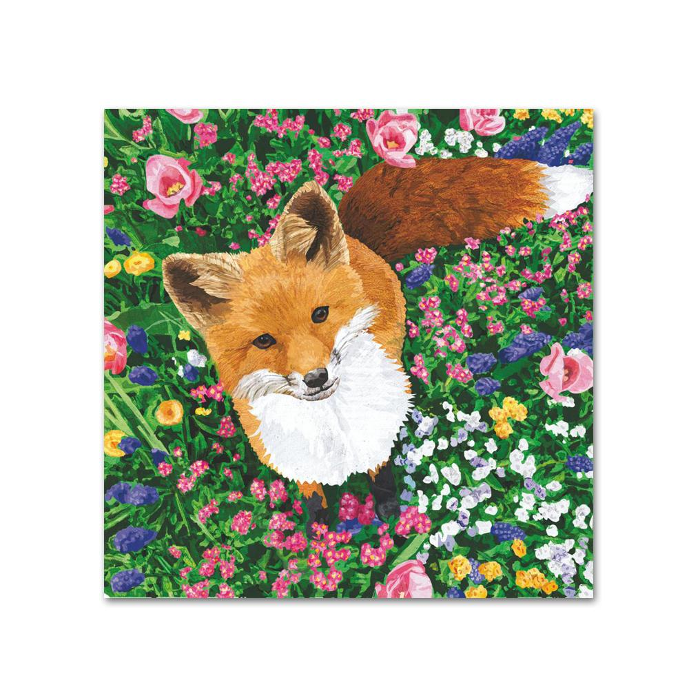 Garden Fox Paper Beverage Napkins