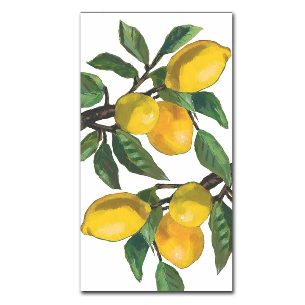 Lemon Musee Paper Guest Towels - Buffet Napkins