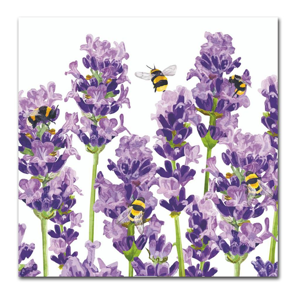 Bees & Lavender Paper Luncheon Napkins