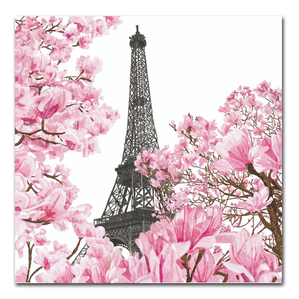 April in Paris Paper Luncheon Napkins