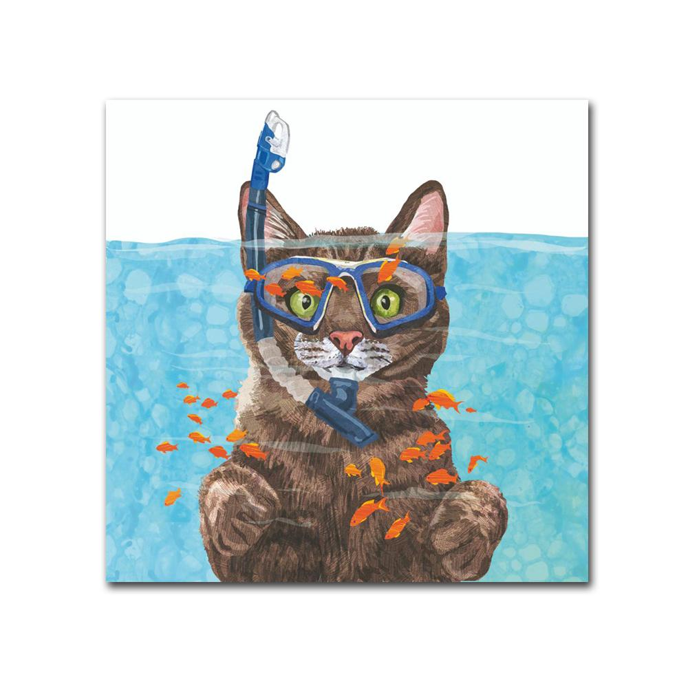Cousteau the Cat Paper Beverage Napkins