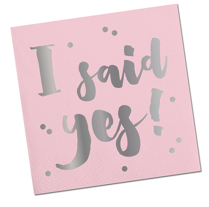I Said Yes! Paper Beverage Napkin