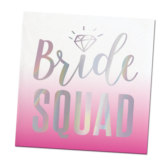 Bride Squad Party Beverage Napkins - Foil