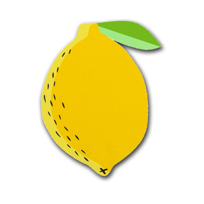 Lemon Shaped Paper Party Napkins