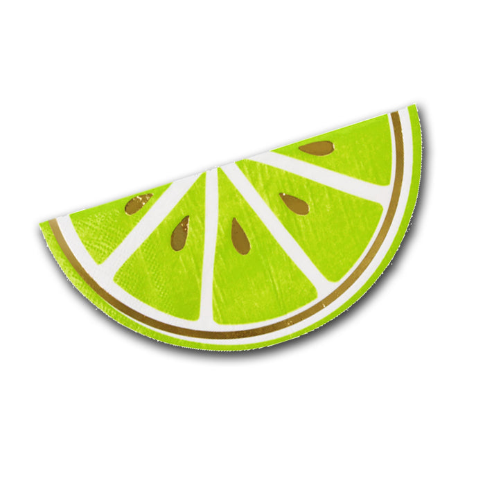 Lime Slice Shaped Paper Party Napkins