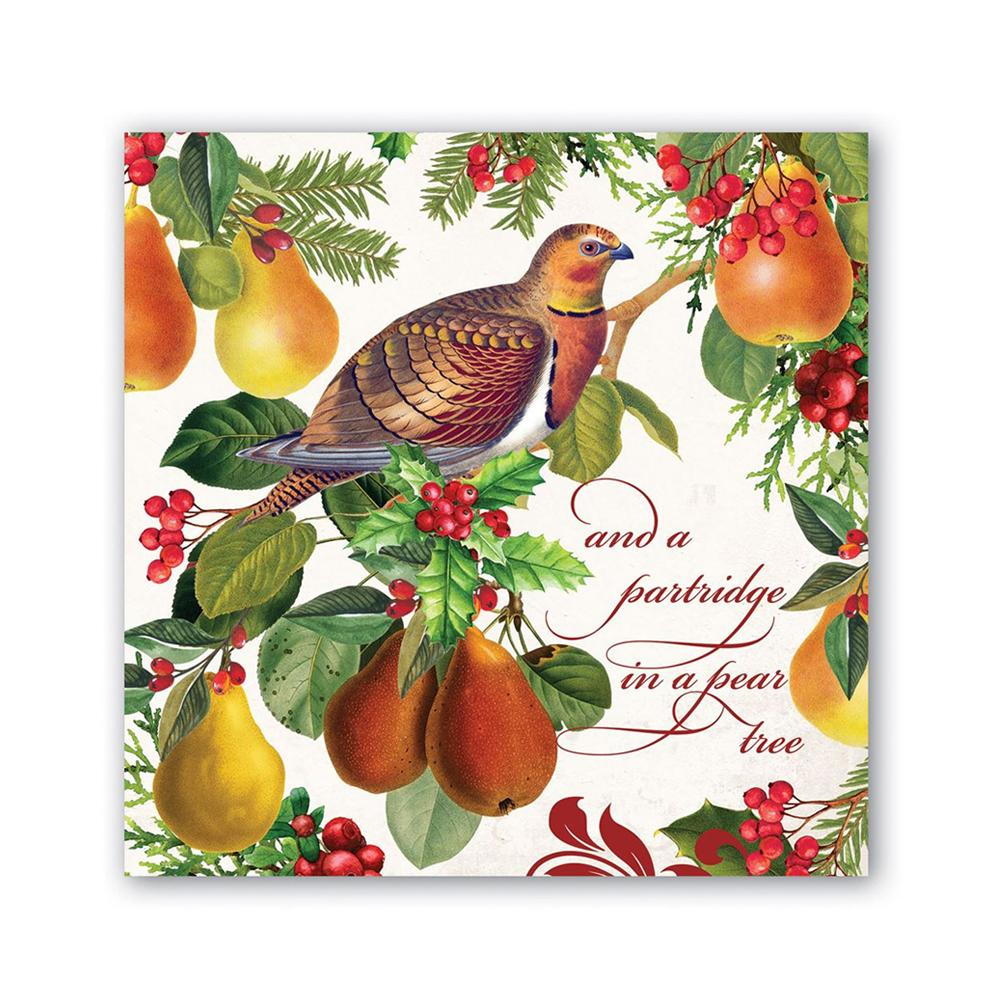 In A Pear Tree Paper Beverage Napkins