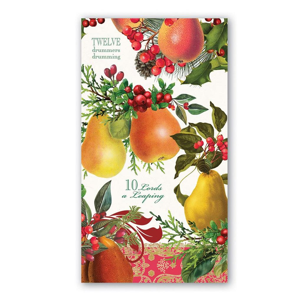 In A Pear Tree Paper Guest Towels - Buffet Napkins