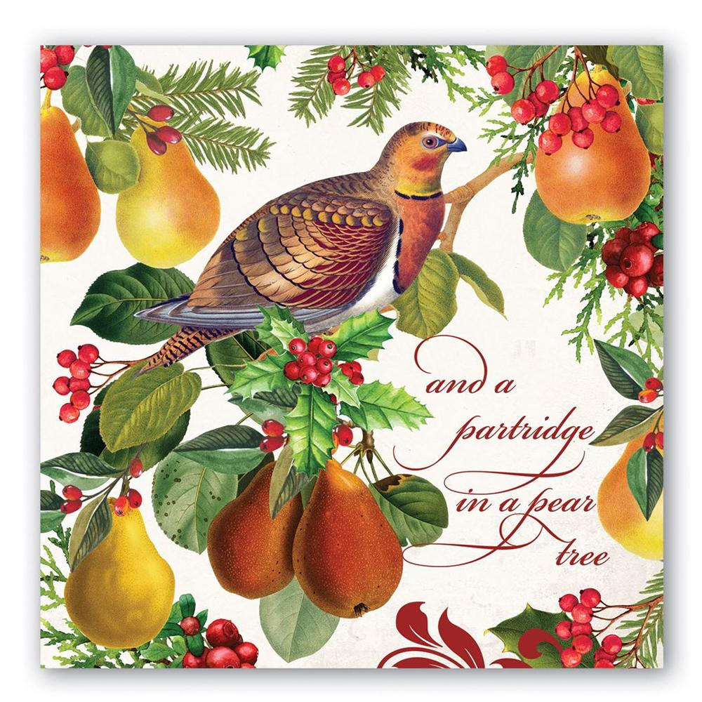In A Pear Tree Paper Luncheon Napkins