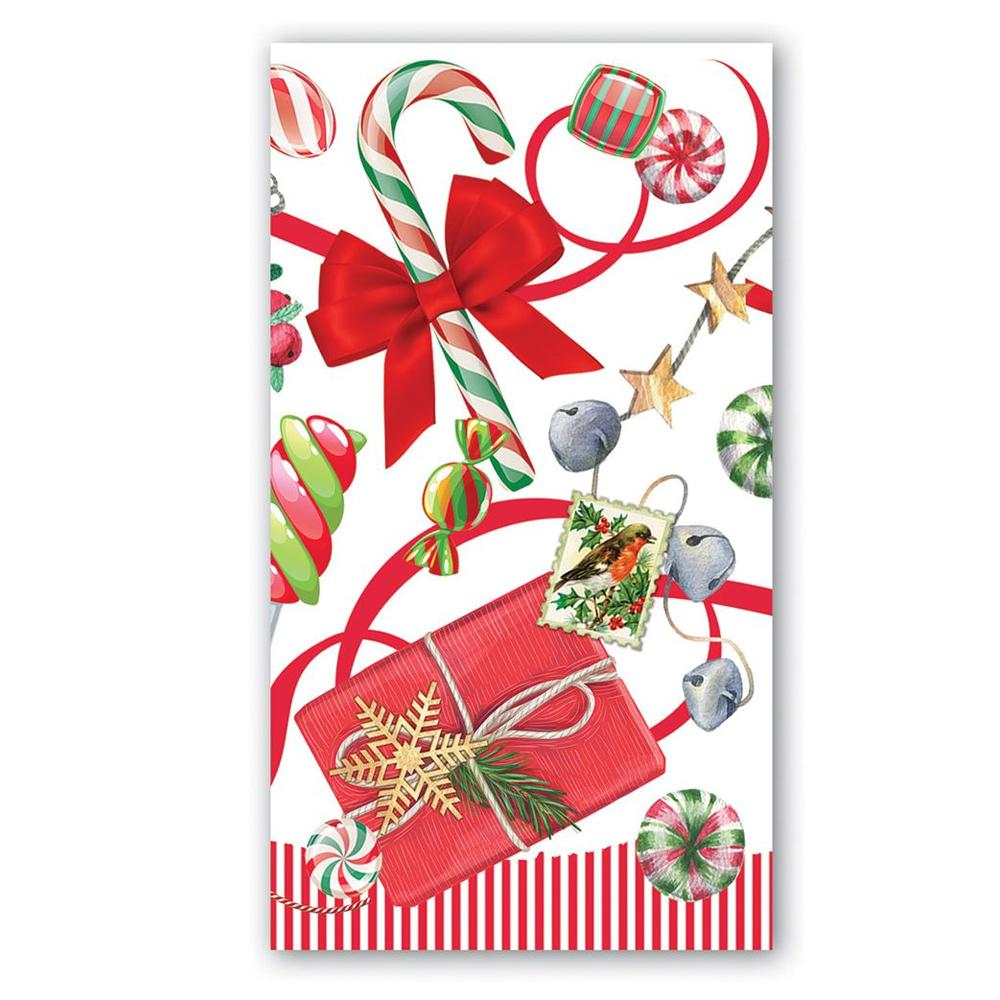 Christmas Peppermint Paper Guest Towels - Buffet Napkins