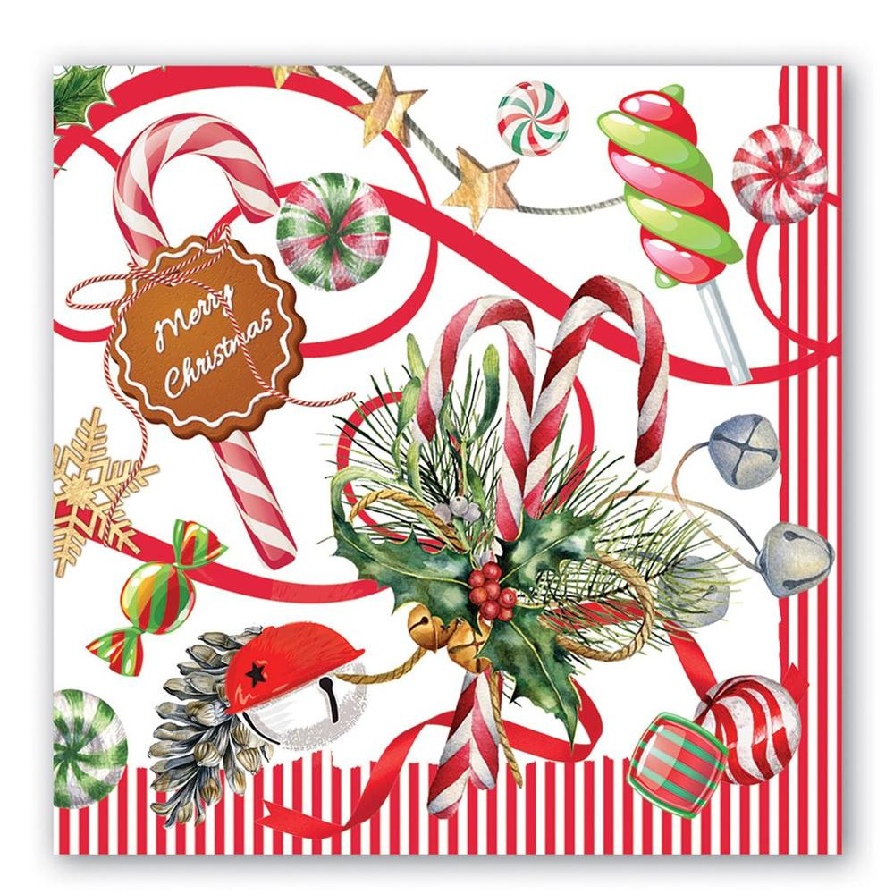 Christmas Peppermint Paper Luncheon Napkins