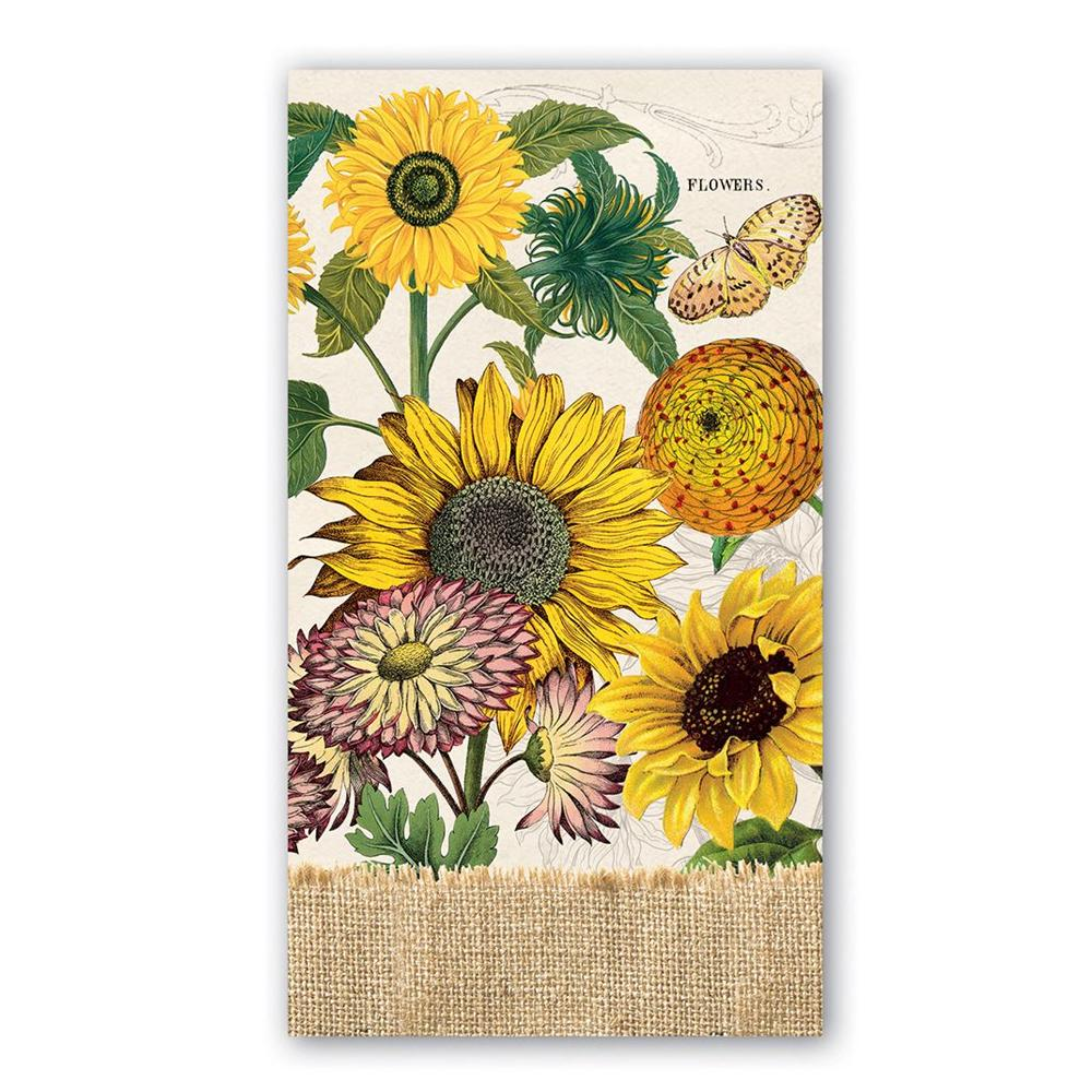 Sunflower Garden Paper Guest Towels - Buffet Napkins