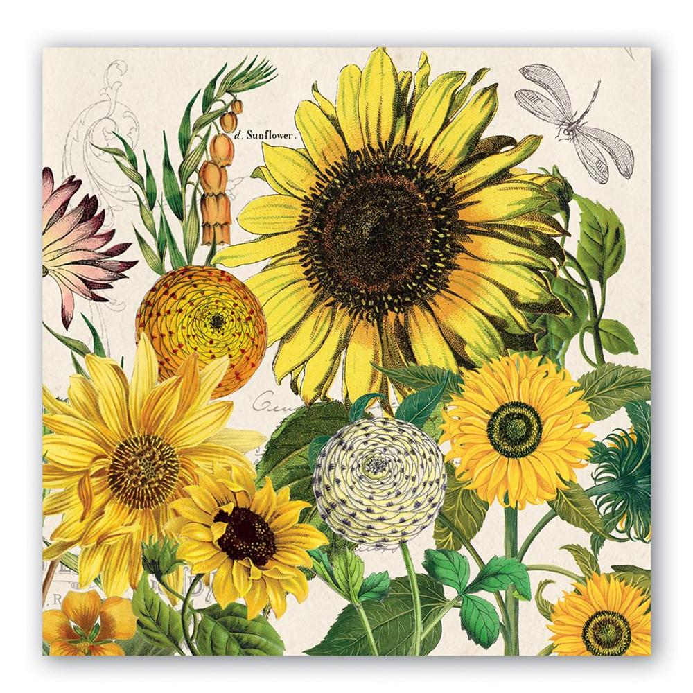 Sunflower Garden Paper Luncheon Napkins