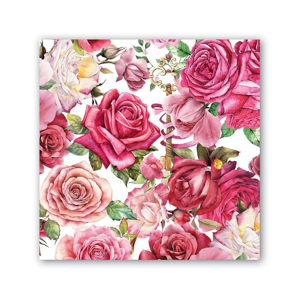 Royal Rose Paper Beverage Napkins