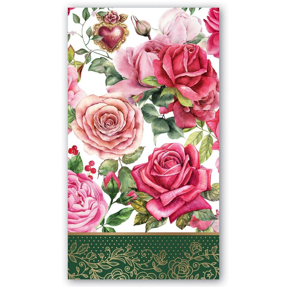 Royal Rose Paper Guest Towels - Hostess Napkins
