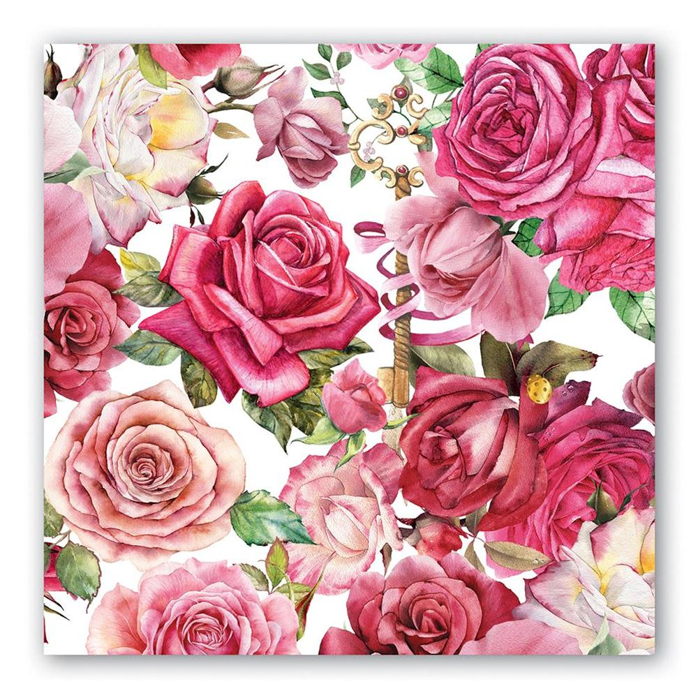 Royal Rose Paper Luncheon Napkins