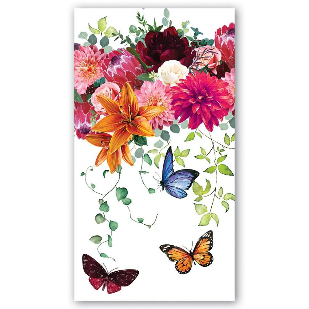 Sweet Floral Melody Paper Guest Towels - Hostess Napkins
