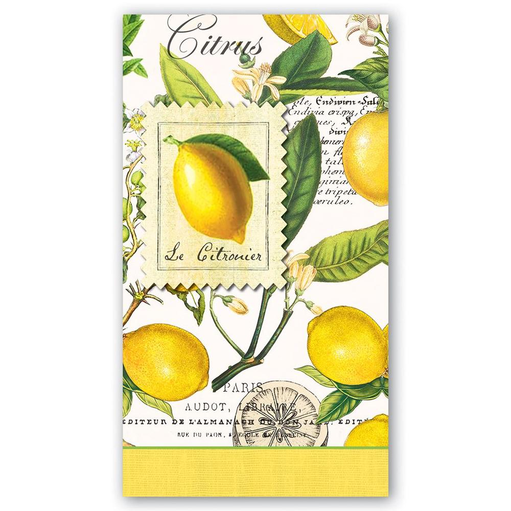 Lemon Basil Paper Guest Towels - Hostess Napkins