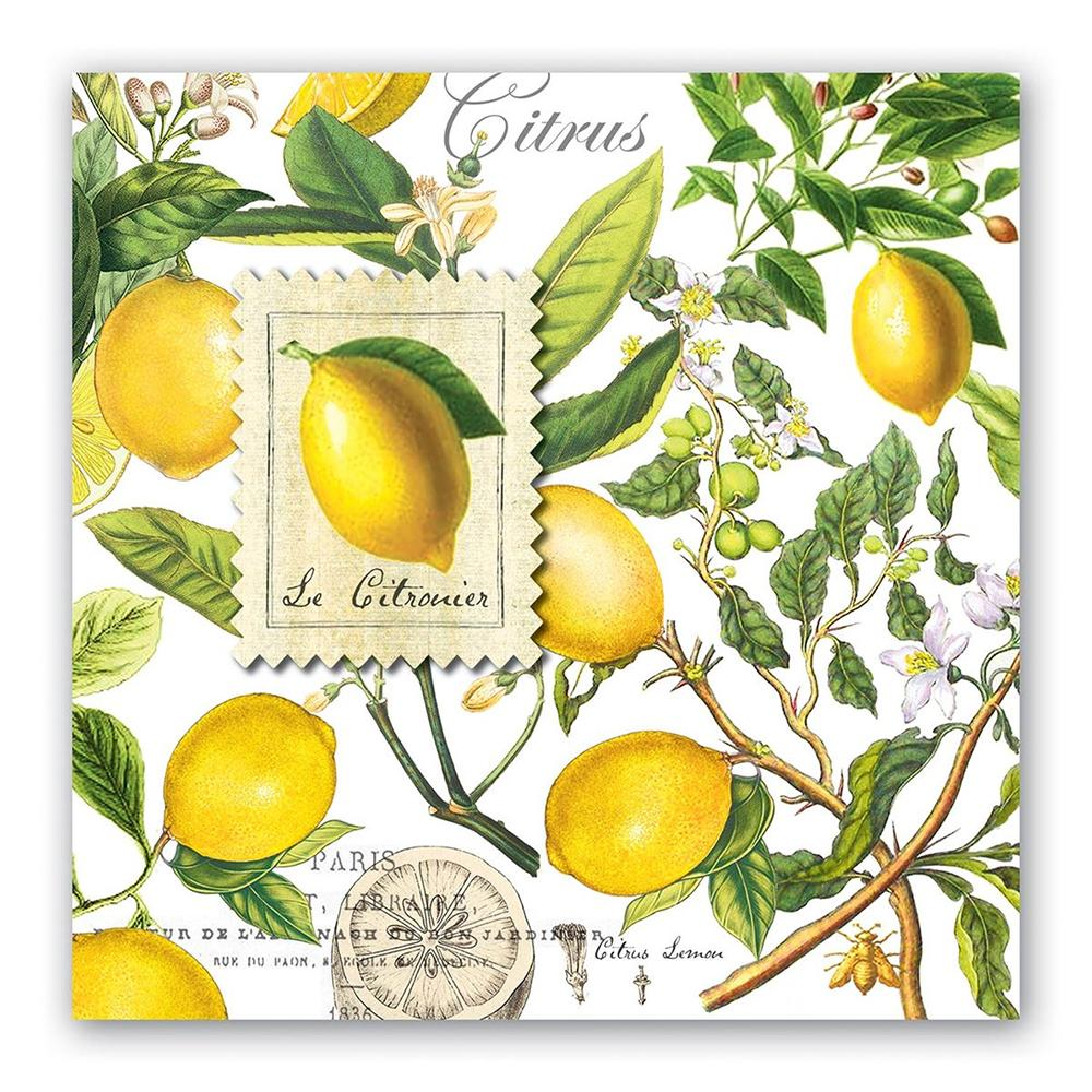Lemon Basil Paper Luncheon Napkins
