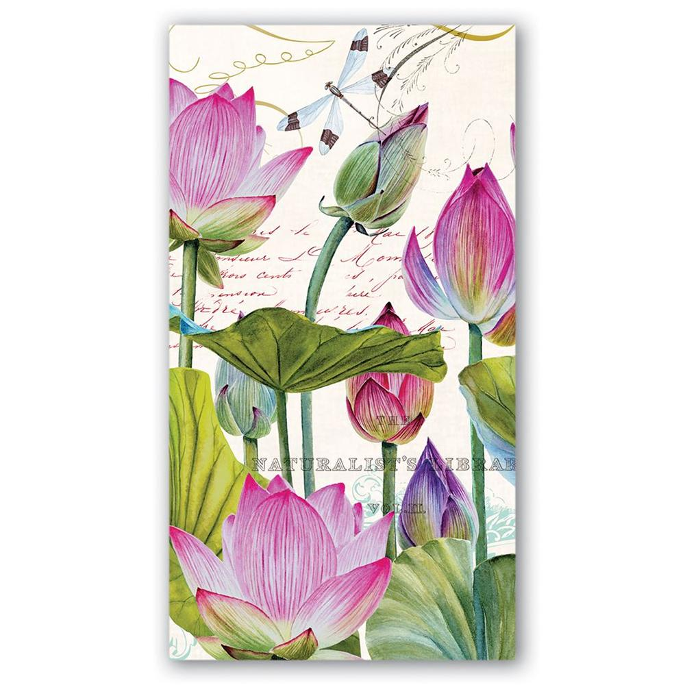 Water Lilies Paper Guest Towels - Hostess Napkins