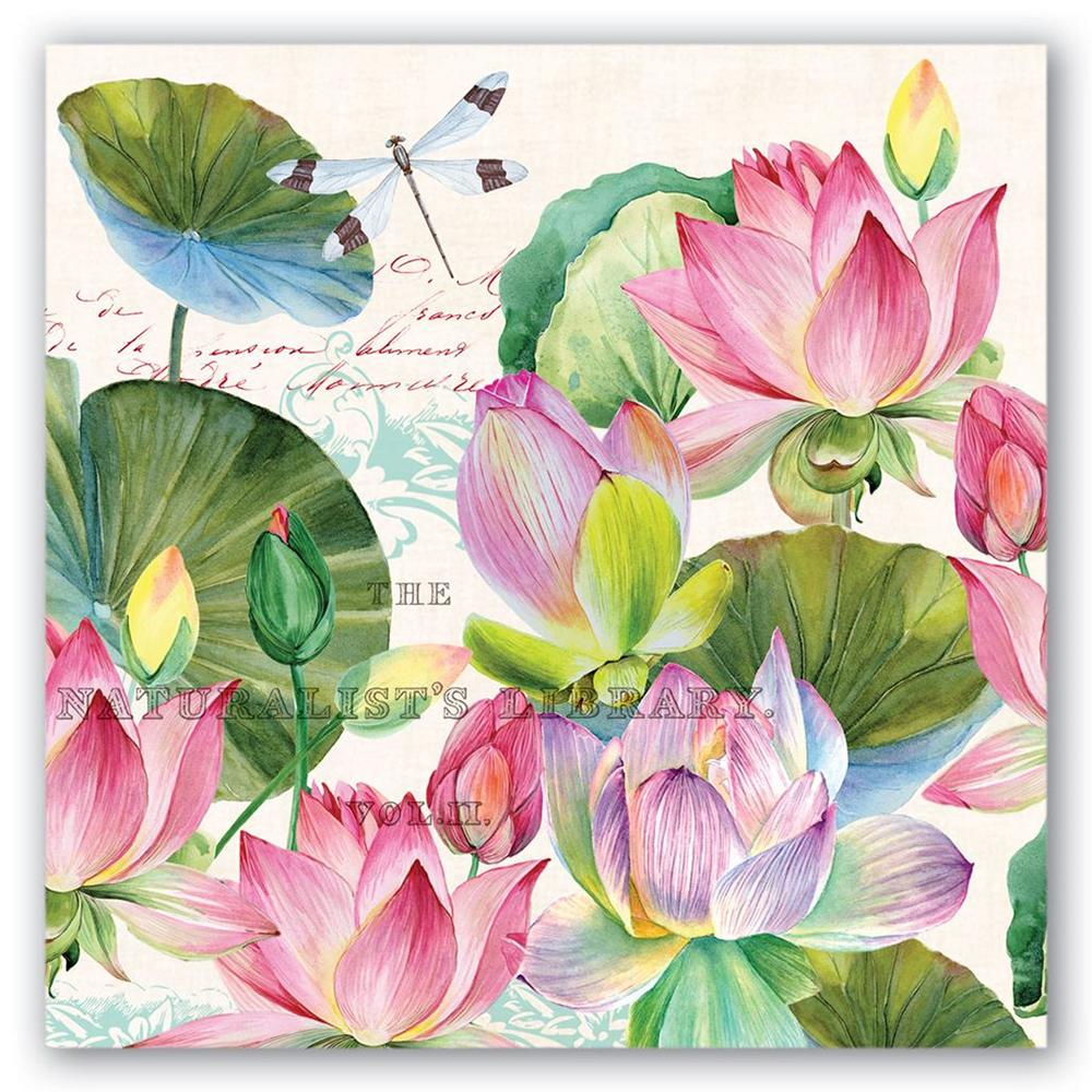 Water Lilies Paper Luncheon Napkins