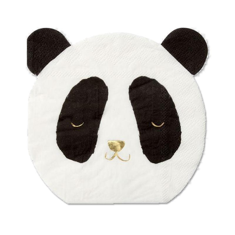 Panda Shaped Party Napkins