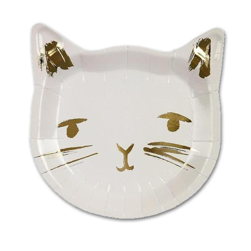 Cat Shaped Paper Plates