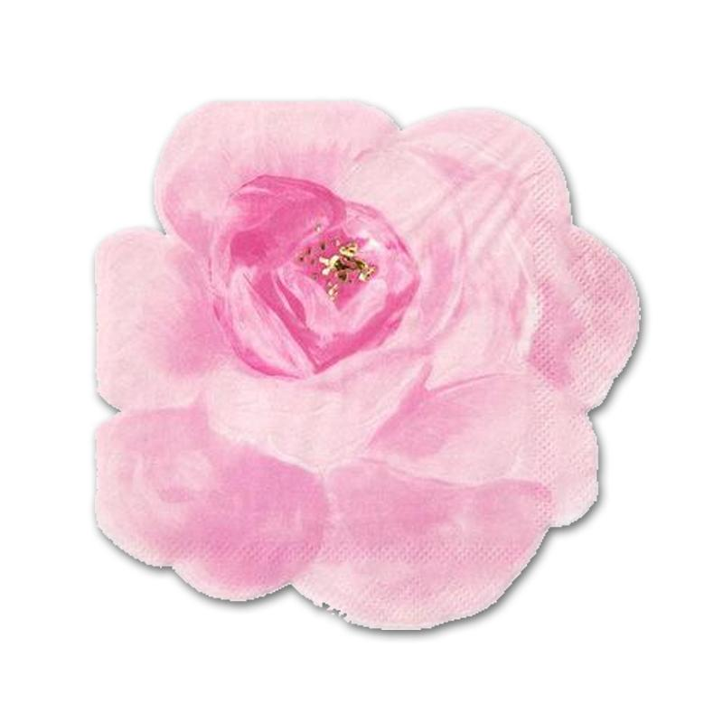 Rose Garden Shaped Beverage Napkins - Assorted Colors