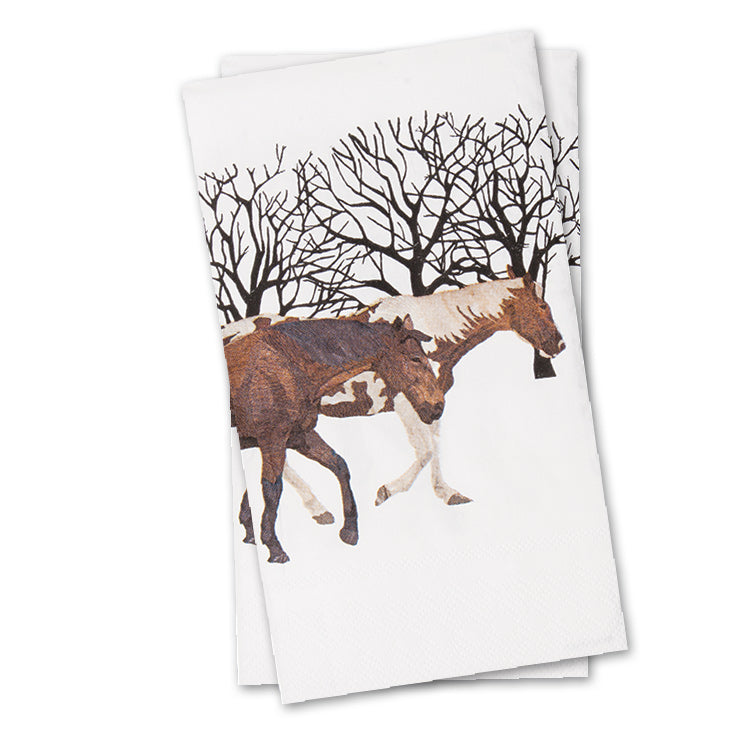 Winter Horses Paper Guest Towels