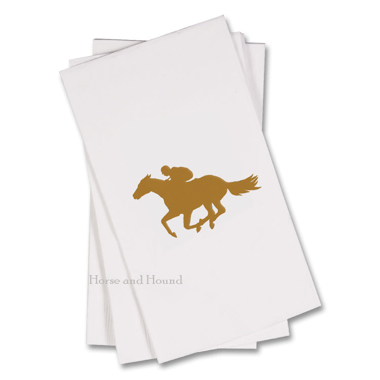 Gold Racehorse Paper Guest Towels