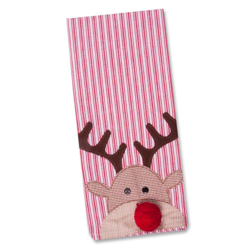 Reindeer Embellished Kitchen Towel