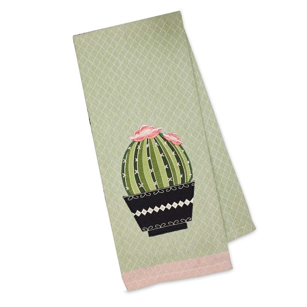 Cactus Embellished Kitchen Towel