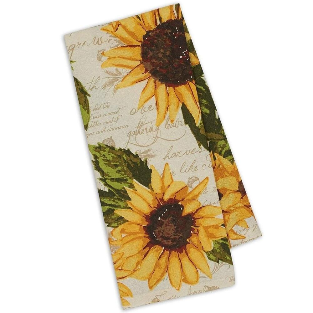 Rustic Sunflowers Kitchen Towel