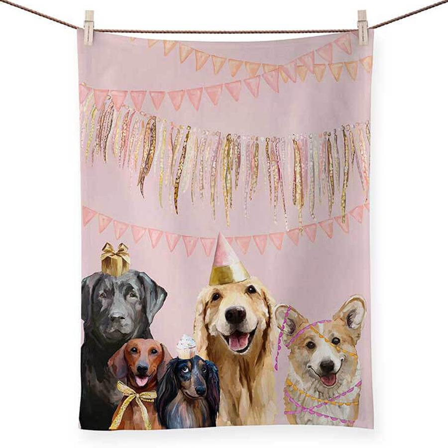 Party Pups Kitchen Tea Towel