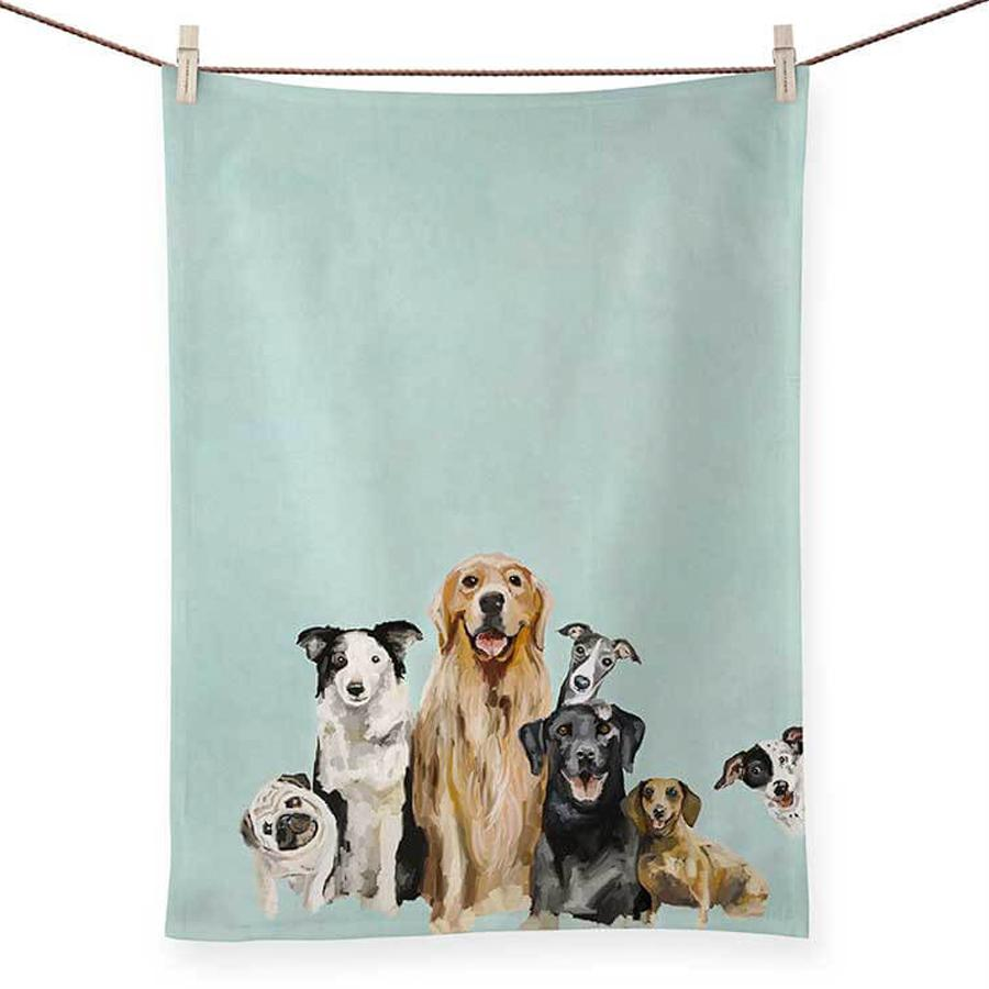 Puppy Pack Kitchen Tea Towel