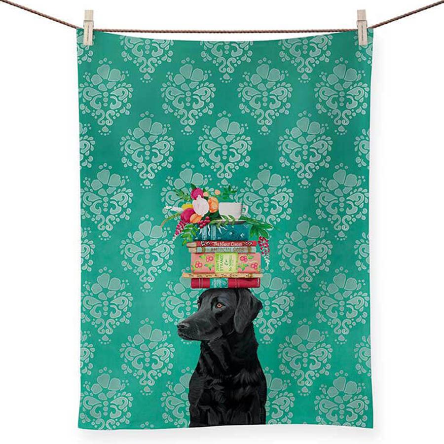 Labrador, Woman's Best Friend Kitchen Tea Towel