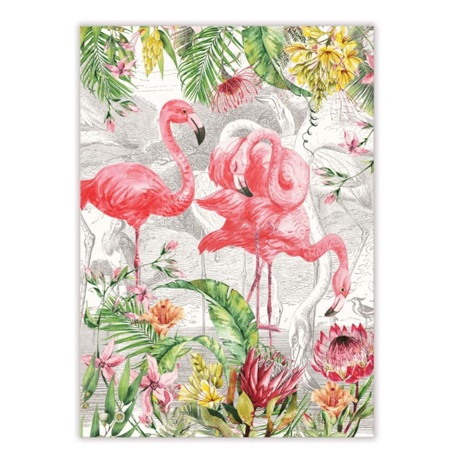 Flamingos in Paradise Kitchen Towel