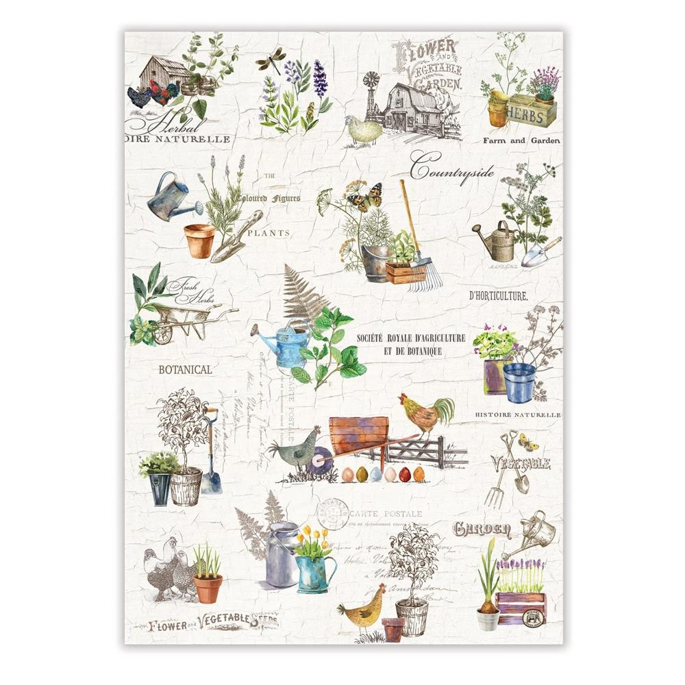 Country Life Gardening Kitchen Tea Towel