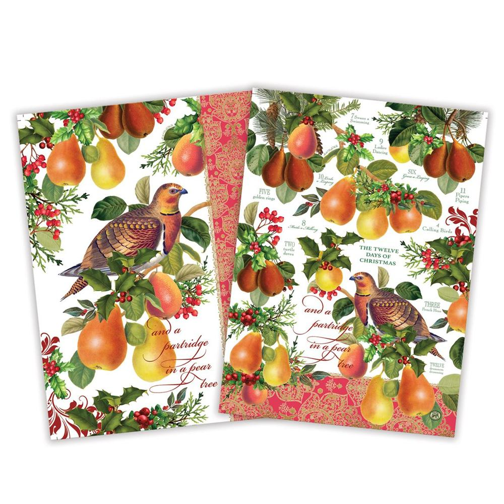 In A Pear Tree Kitchen Tea Towel - Set of 2