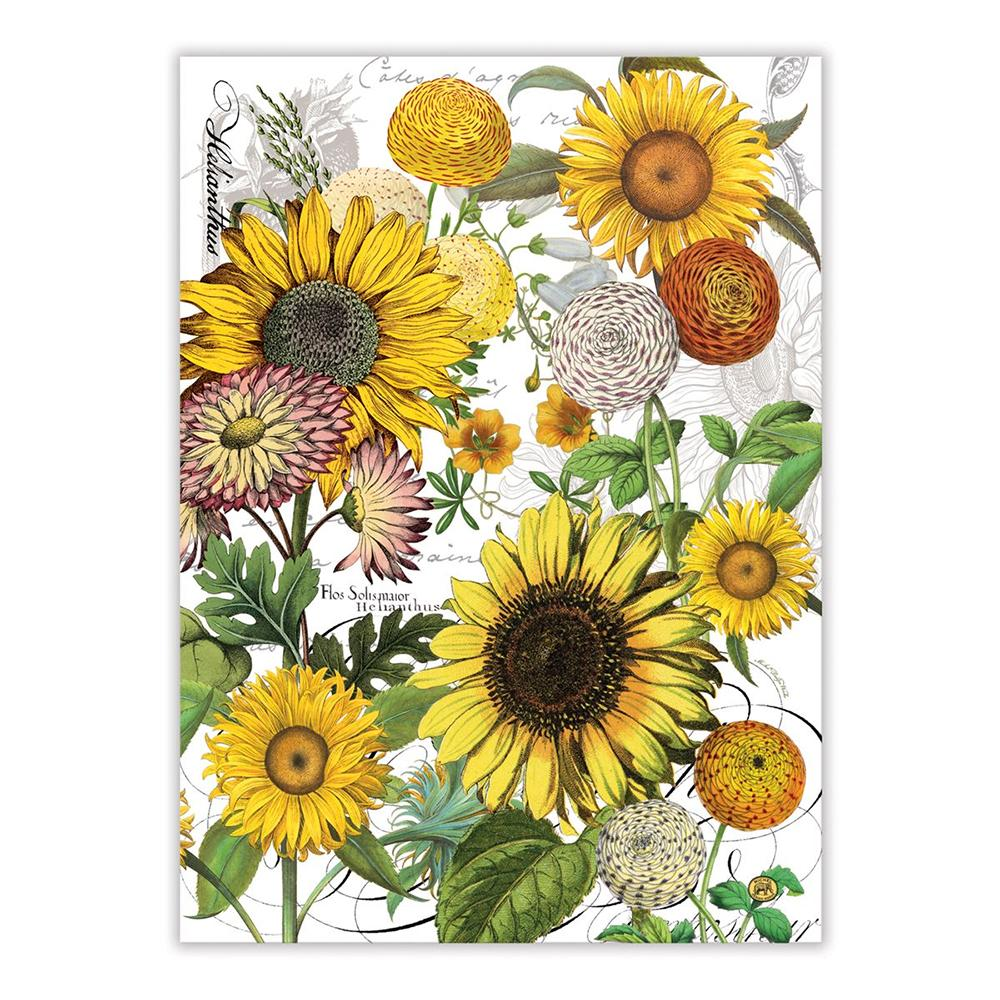 Sunflower Garden Kitchen Tea Towel